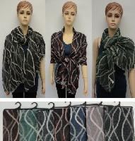 Pashmina with Fringe [Wavy Line Vector]